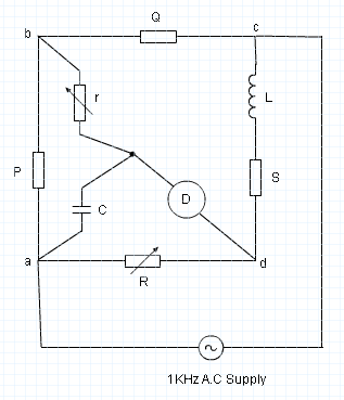 Anderson Bridge Circuit Diagram