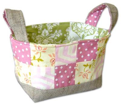 Pink Penguin: Tutorial: Fabric Basket