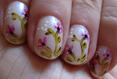 Unhas decoradas com Flores – Fotos
