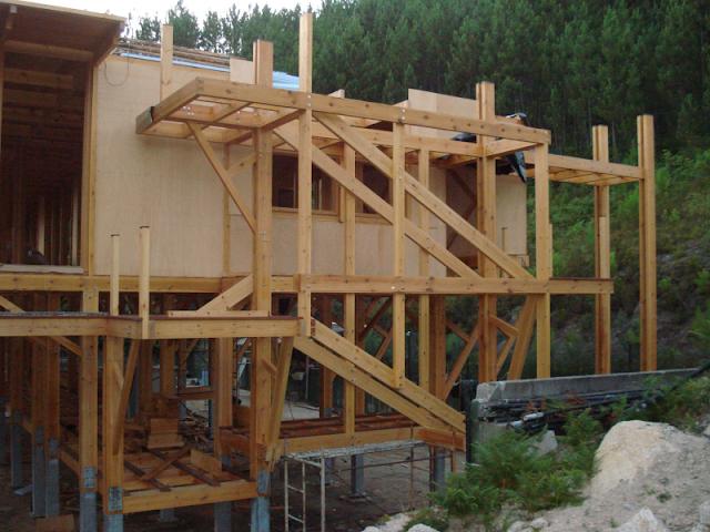 Construccion casa madera