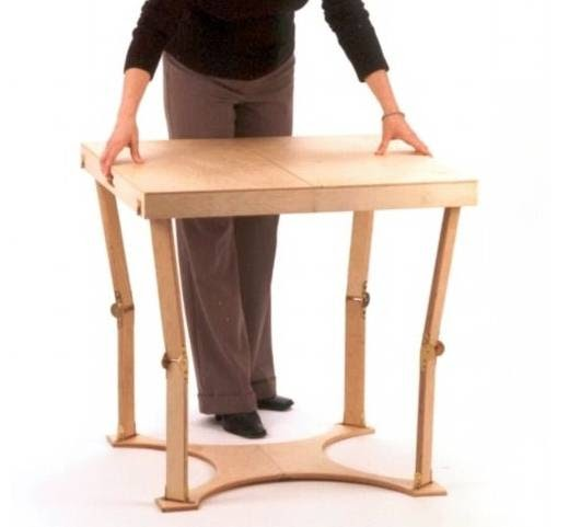 Arquitectura de casas mesa plegable auxiliar - Mesa plegable diseno ...