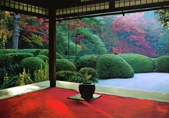 Sector abierto de una casa tradicional japonesa