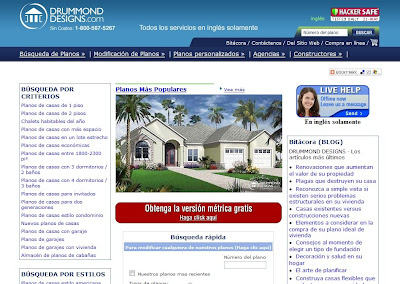 Imagen de portada de sitio de planos de casas