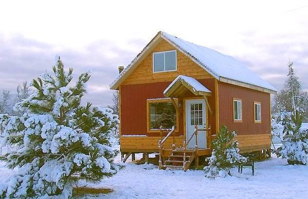 Cabaña de madera de reducidas dimensiones en Estados Unidos