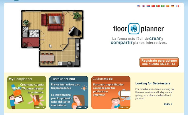 Página principal de floorplanner.com