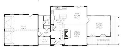 Plano arquitectónico de residencia americana