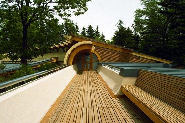 Casa residencial de gran superficie con diseño orgánico