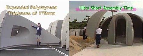 mdulos de espuma para construir casas domo en japn