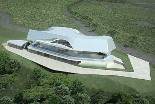 Estructura residencial con lineas de diseño avanzadas