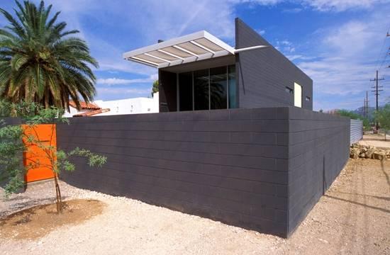 Casa vanguardista contemporánea negra