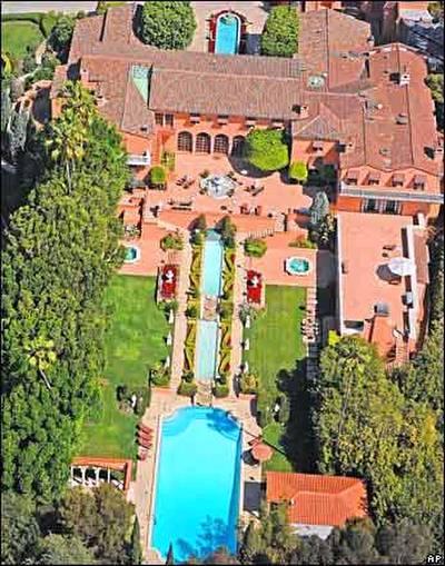 Vista aérea de la mansión de El Padrino