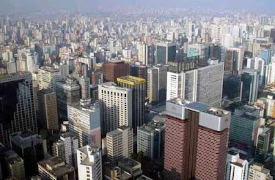 Vista aérea de San Pablo, Brasil, imagen del sitio www.reservas.net