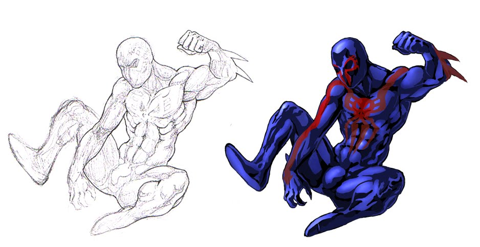 spider man 2099 colouring pages 2