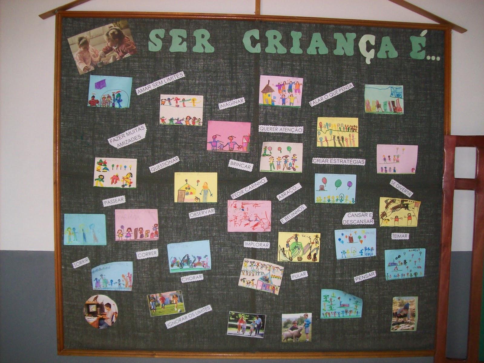 Escola Mundo Encantado Mural do Dia da Criana