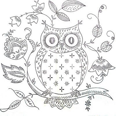 FREEBIES FOR CRAFTERS: Owl Stitchery