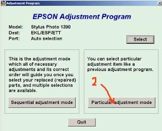 Atasi Printer Epson Stylus Photo 1390 Blinking dg Resetter