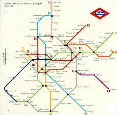 Subway Map For Madrid.L A Madrid Files A Simpler Metro Time