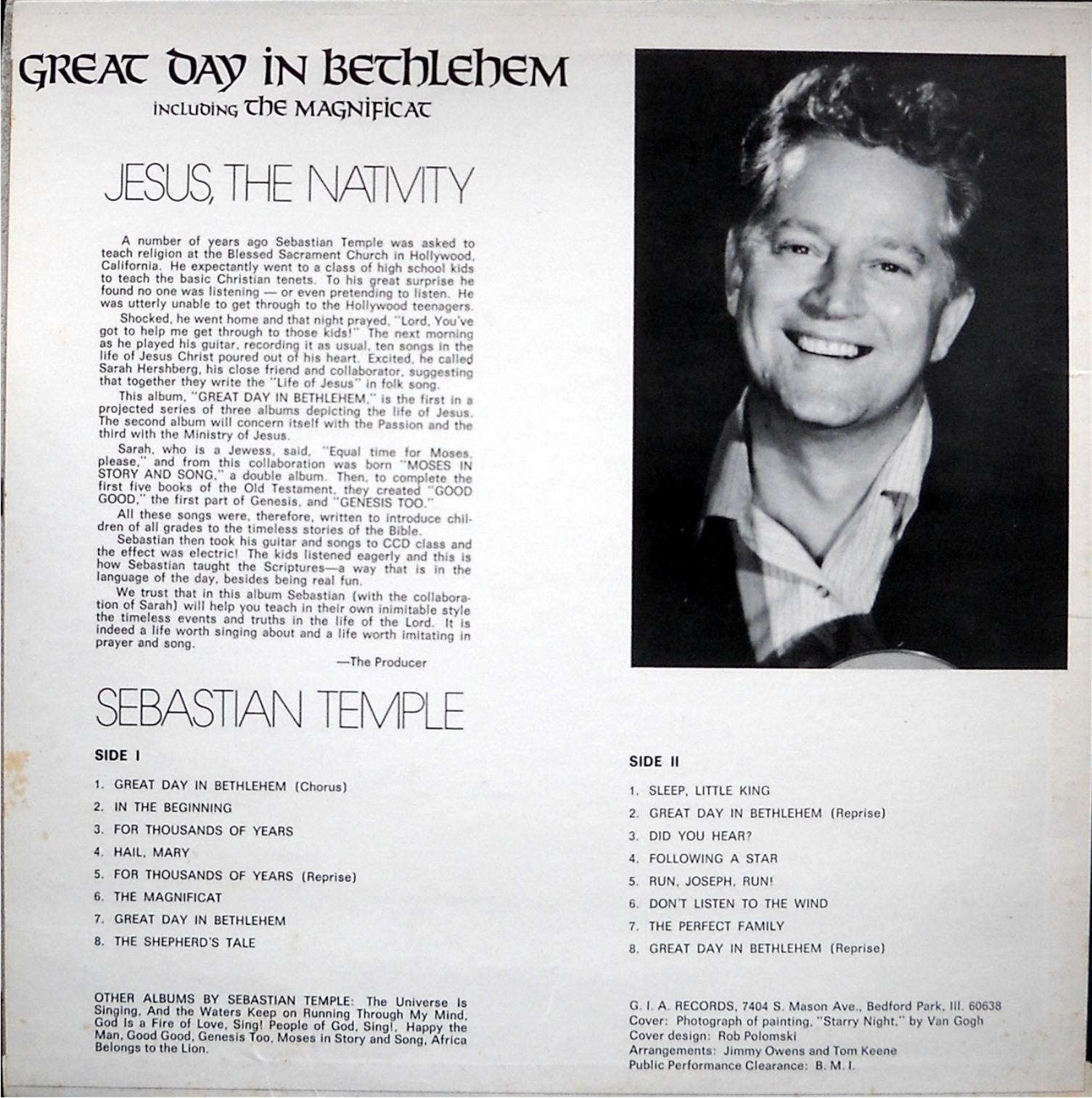 SEBASTIAN TEMPLE - Great Day In Bethlehem | The Ancient Star Song