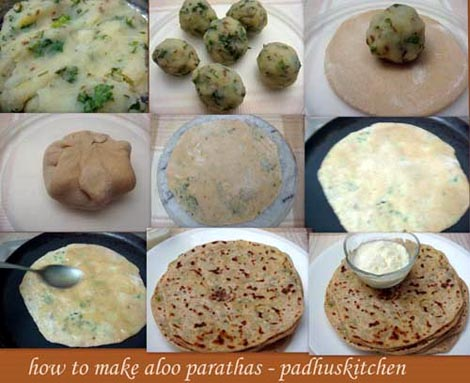 Simple steps to make aloo parathas padhuskitchen aloo paratha step by step pics forumfinder