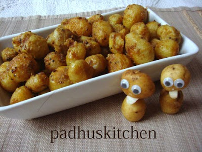 Baby potato fry-baby potato roast