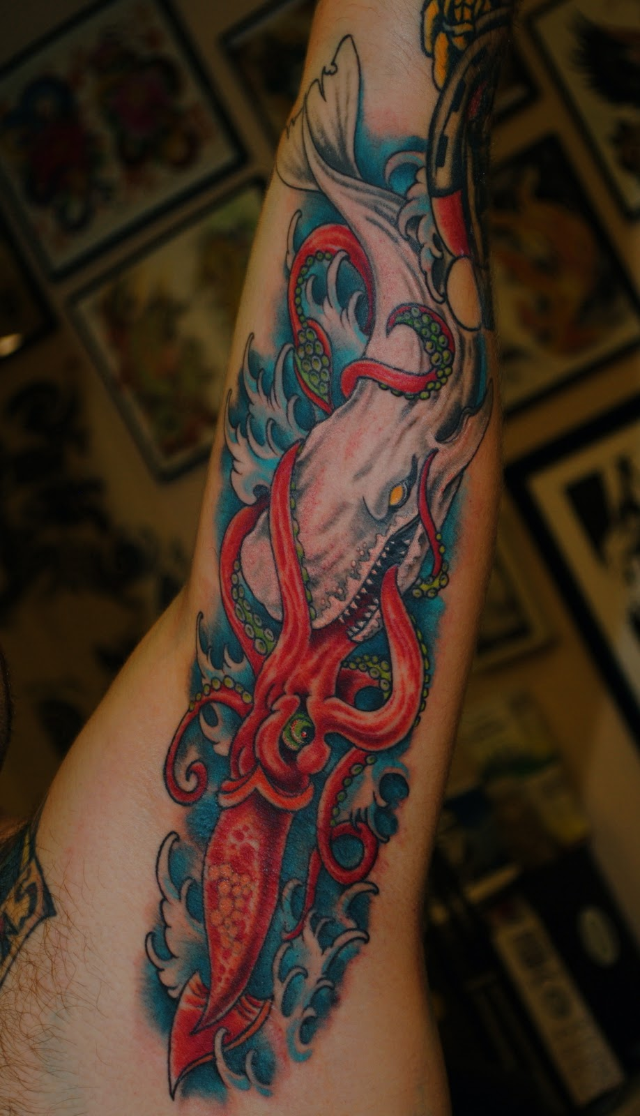 Bound For Glory Tattoo: NEW TATTOOS BY NICK CARUSO