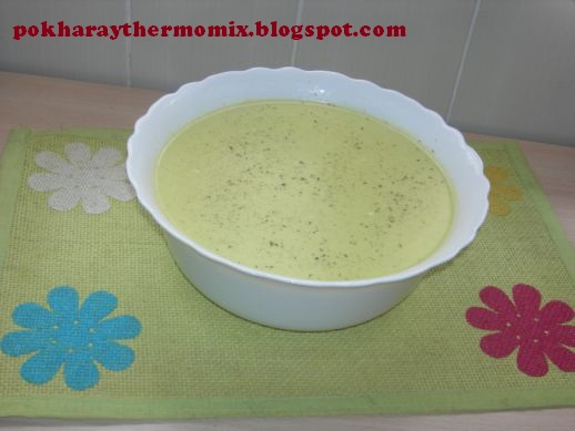 crema de calabacin sin quesitos thermomix