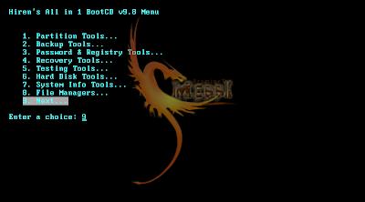 Hiren's bootcd 9. 9 manual.