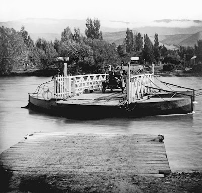 Lowburn Ferry, circa 1920, by JH Ingley