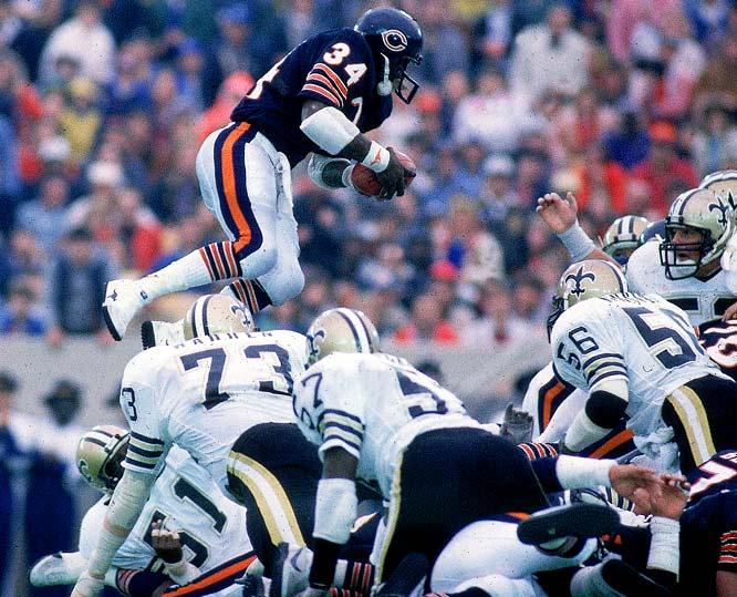 Walter Payton: February 2011Walter Payton Jumping Touchdown