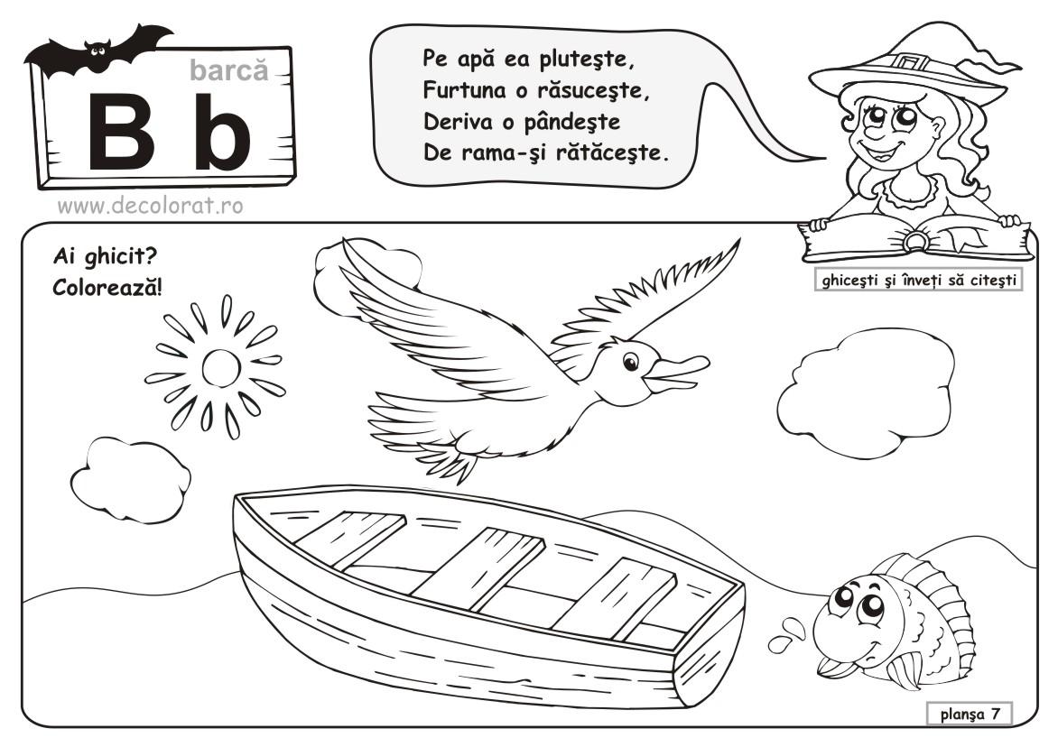 Planse De Colorat Alfabetul De Colorat Litera B