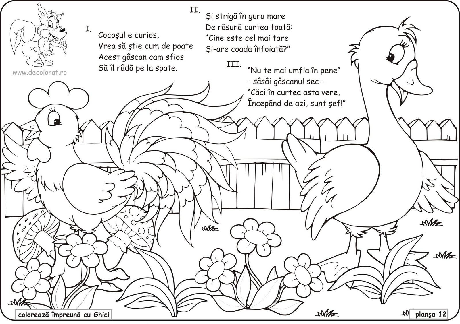 Planse De Colorat Animale Domestice De Colorat