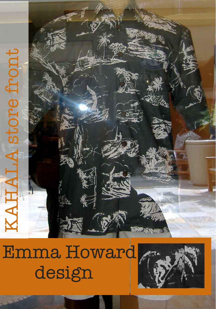 eaa80a4f George Clooney wears this aloha shirt --store front of Kahala Sportswsear