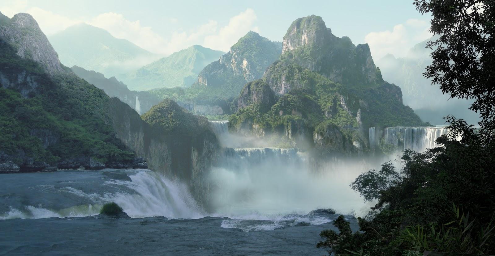 Fall Waterfall Wallpaper Hf 3d Matte Painting Tutorial Mattepainting Org