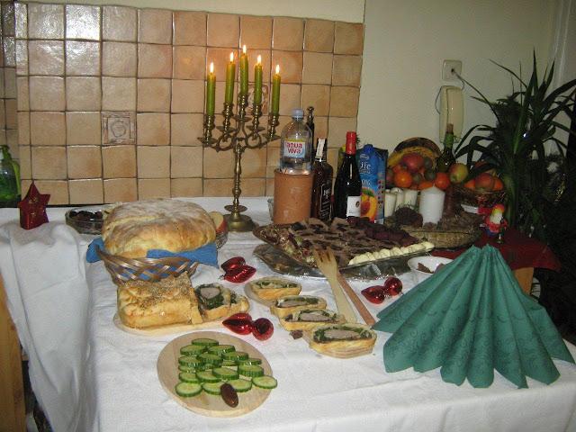 Karácsonyi büfé asztal