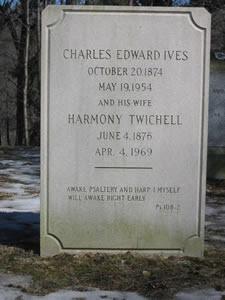 Tombstone of Charles Ives