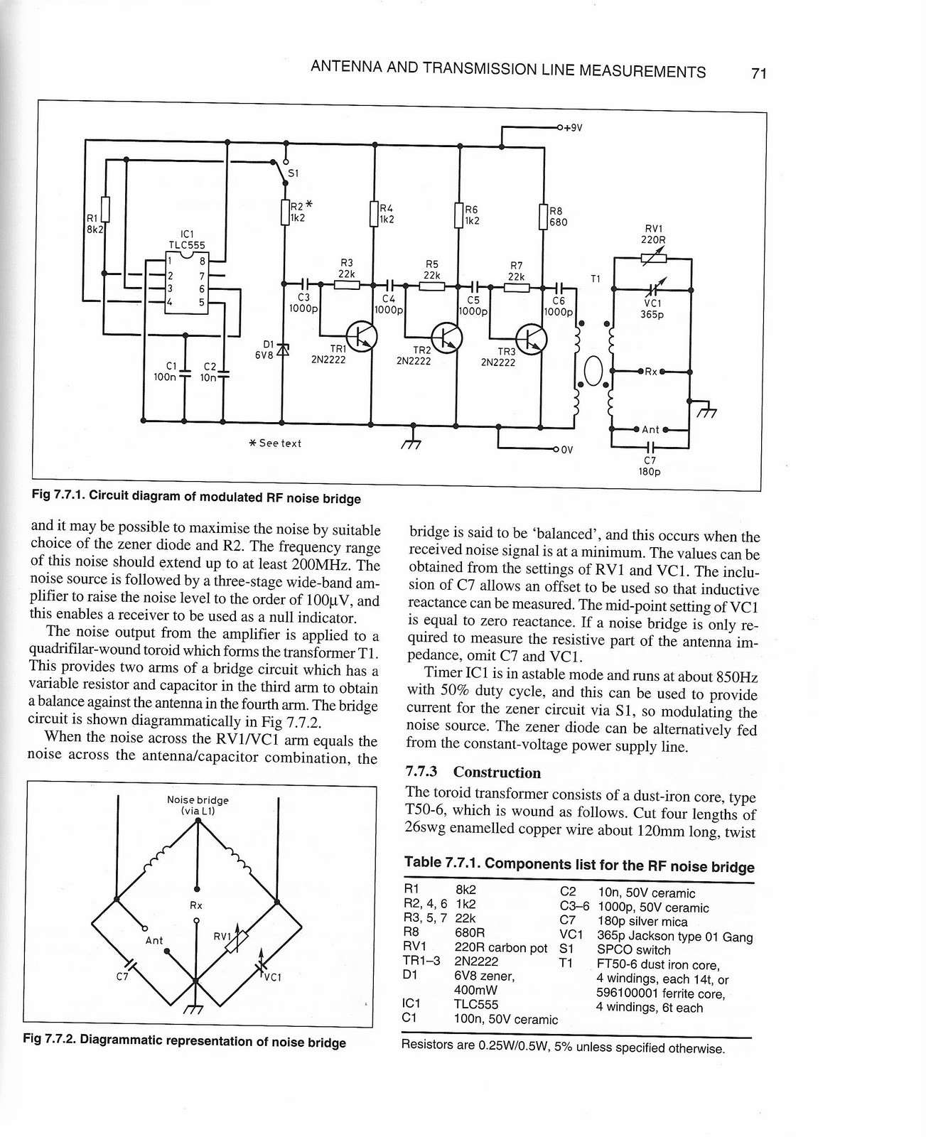 hight resolution of for those who like to homebrew and need detailed build instructions as i do i have attached a noise bridge from test equipment by clive smith g4fzh using