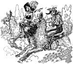 One of the illustrations accompanying the HTML version of the novel titled The Pirates of Zan aka The Pirates of Ersatz by Murray Leinster at Project Gutenberg. Click to enlarge to original sized image.