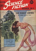 Cover image of Avon Science Fiction Reader No 3, April 1952, edited by Donald A Wollheim