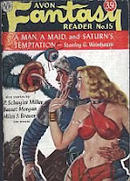 Cover image of Avon Fantasy Reader No 15, February 1951, edited by Donald A Wollheim
