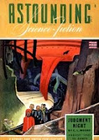 Cover by Timmins, of Astounding Science-Fiction magazine, August 1943 issue