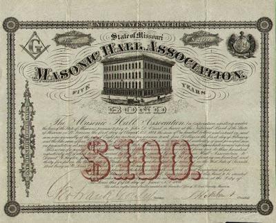 bond from the Masonic Hall Association