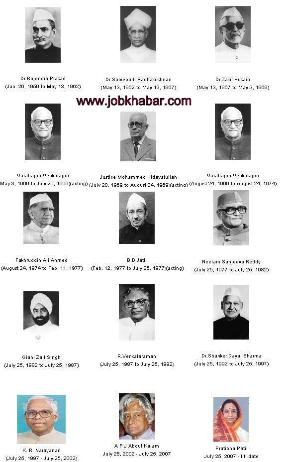 Indian Presidents list | Presidents duration ~ RAS Exam ...