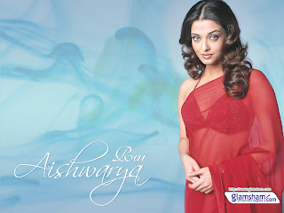 Aishwarya In Red Saree 4