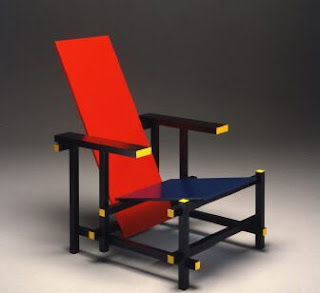 silla roja y azul de rietveld arquitectura y dise o los mejores interiores y casas de dise o. Black Bedroom Furniture Sets. Home Design Ideas
