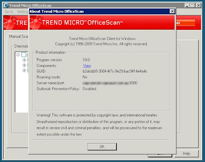 Uninstall trend micro officescan server