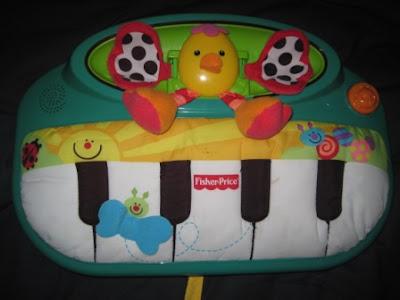 Fisher Price Peek A Boo Piano Crib Toy My Baby