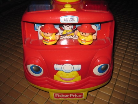 Baby Equipment Little People Fire Truck Musical Ride On