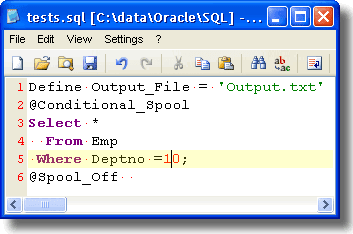 Conditional Spool with SQL+ | My Oracle 10g Tips