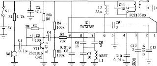 Electronics Circuits: Ta7378P FM wireless microphone circuit