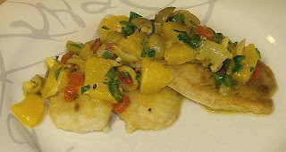Sautéed Trout/Tilapia with Citrus-Olive Relish